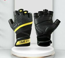 TMT Sheep Leather Gym Gloves Bodybuilding Weight Lifting Fitness Glove Nonslip