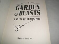 JEFFERY DEAVER - Garden Of Beasts SIGNED 1/1 Hb book - 2004 - WWII THRILLER