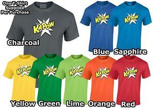 Comic Style Mens T-Shirt Kapow Boom