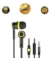 Noise-Isolating Earbud with In-Line Microphone Earphone Headset In Ear Headphone