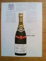 PUBLICITE ANCIENNE PUB ADVERT - Champagne Perrier Jouet dos cours des ventes