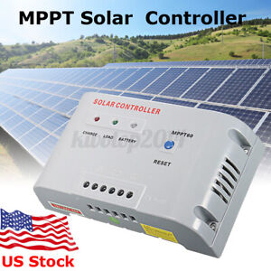 40A MPPT60 Solar Panel Regulator Controller Batteries Charger Multi-Protection