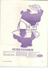 1964 PAPER AD Ideal Toy Peter Potamus Dinky MGB Sports Car #113