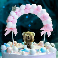 1PC Soft Pompom Cloud Cake Topper Birthday Party DIY Cake Top Flags Decoration