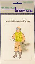 Aerobonus 720021 1/72 Resin German Luftwaffe pilot WWII with life jacket