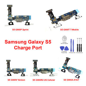 OEM Charger Charging Port Dock Mic Flex Cable For Samsung Galaxy S5 G900A T V P