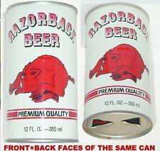 Vintage University Arkansas Razorbacks Sports Ncaa Football Hog Mascot Beer Can
