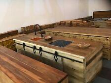 Küchen Insel massiv Teakholz Kochinsel Antik 2 m  x 1m x 85cm NEU