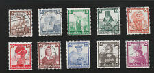 Germany Hitler Era 1935 Native Costumes Complete Set NICELY 10 Used Stamps E