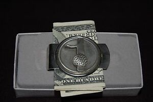 Golf Ball Money Clip Number 1 Golfer American Made Fort Pewter
