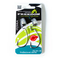 Freedom Live Action Hybrid Jigs 1/4 ounce bullet weights and 3/0 hooks