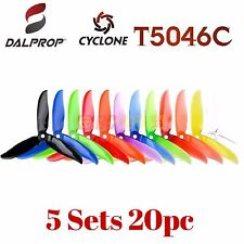 DAL DALProp T5046C Cyclone Tri-Blade Propeller 5x4.6x3 Quad Props Mix Color 20pc