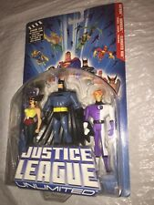 Justice League Unlimited 3-pack Hawkgirl, Batman, Elongated Man action figures