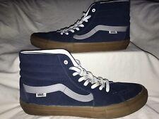 Vans Custom Ultracush Sk8-Hi Pro Shoes - Blue Suede / Gum Sole Size 12 EUC!