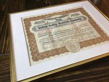 1954 Lisbon Valley Uranium Company Stock Certificate In Frame