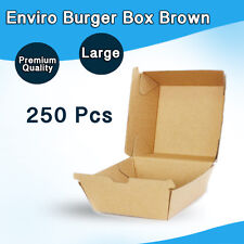 Brown Corregated Burger Box 250 Pc Snack Takeaway chicken, chips large
