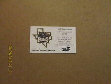 CHL Fort Worth Brahmas Vintage Defunct Business Card