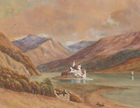 P. Chapman - 1933 Watercolour, Loch Duich