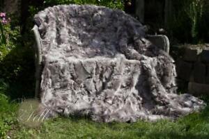 Lammfelldecke 200x155 cm Taupe Briesa Toscana Lammfell Felldecke echtes Lammfell