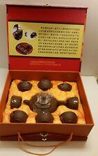 Yixing Purple Clay Chinese Teapot Set 9 pc Yixing Zisha Tea Pot Tea Cup Gift Set