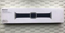 GENUINE APPLE WATCH MODERN BUCKLE - MIDNIGHT BLUE LEATHER 38/40mm M **RARE**