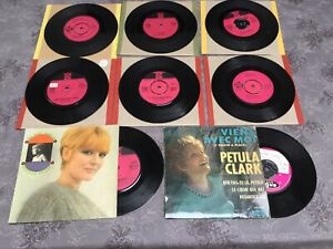 "PETULA CLARK JOB LOT OF 8 X 7"" SINGLES & EP RECORDS ORIGINAL 60's Incl French EP"