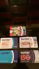 OYSTER CARDS LIMITED EDITION. SET OF FIVE