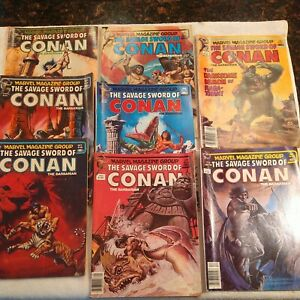 The SAVAGE SWORD OF CONAN lot of 6 from 1981 to 1982