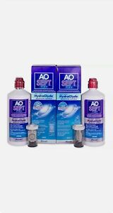 Aosept Plus Contact Lens Solution with HYDRAGLYDE 2 x 360ml 3 Month Pack + Case