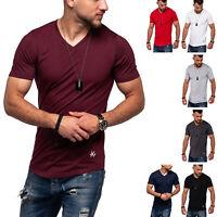 Jack & Jones Herren V-Neck T-Shirt INFINITY Oversize Longshirt Herrenshirt Top