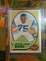 1970 Topps Football Deacon Jones #125 Los Angeles Rams~