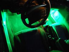 4Pc Green Neon Interior, Underdash Lighting Kit with Remote & Effects!
