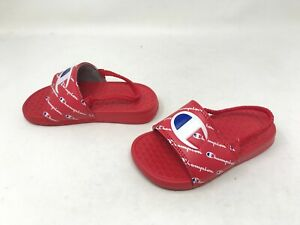 Boys Toddlers Champion (CPS10043T) Super Repeat Red Slides (442i)
