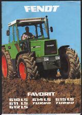 """FENDT """"Favorit"""" Tracteur brochure dépliant"""