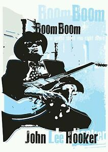 John Lee Hooker blues specially designed poster print