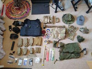BIG Airsoft Gear Job Lot / Bundle - Tan Multicam Black - Army Military - Parts
