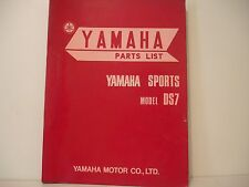 PARTS LIST MANUEL PIECES DETACHEES MANUAL PARTS YAMAHA SPORTS DS7 250