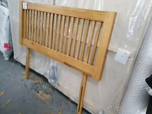 John Lewis CANNES Wooden Headboard 135cm Double OAK