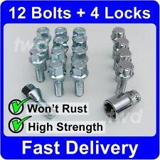 16 x ALLOY WHEEL BOLTS & LOCKS FOR LATER MINI (2006+) M14x1.25 BMW LUG NUTS [8F]