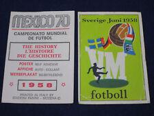 Panini WM 1970 Mexico 70,Original sticker, poster Sverige 1958,unused,+back,rare