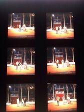 """JEAN RICHARD """"Messieurs Les Clowns""""  : PLANCHE DE 6 EKTA DIAPOSITIVES ORIGINALES"""