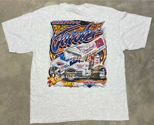 """2000's NOS Kenny Jacobs """"Mighty Mouse"""" Weikerts #29 Sprint Car Tee -XL"""