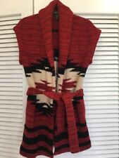 160. Ralph Lauren Indian Navajo Sweater Blanket Vest NWOT S