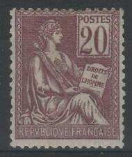 """FRANCE STAMP TIMBRE N° 113 """" TYPE MOUCHON 20c BRUN-LILAS """" NEUF xx TB  N059"""