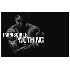 Inspirational Quote Muhammad Ali Motivational Canvas Wall Art Print Home Decor