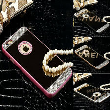 Mirror Bling Rhinestone Crystal Hard Back Case Cover For iPhone 6 5 4 S Plus SE