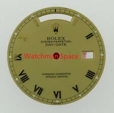 Original Men's Rolex Day-Date 18238 18038 Champange Roman Dial 18KY #A27