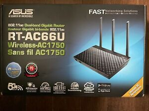 ASUS RT-AC66U 802.11ac Dual-Band WiFi Wireless Gigabit Router