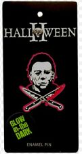 HALLOWEEN II MICHAEL MYERS GLOW IN THE THE DARK ENAMEL PIN NEW FREE SHIPPING