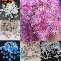 300pcs Plastic Snowflake Christmas Xmas Tree Ornament Wedding Party Decorative